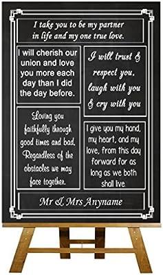 A5 Vintage pizarra amor votos diseño de pizarra con texto en ...
