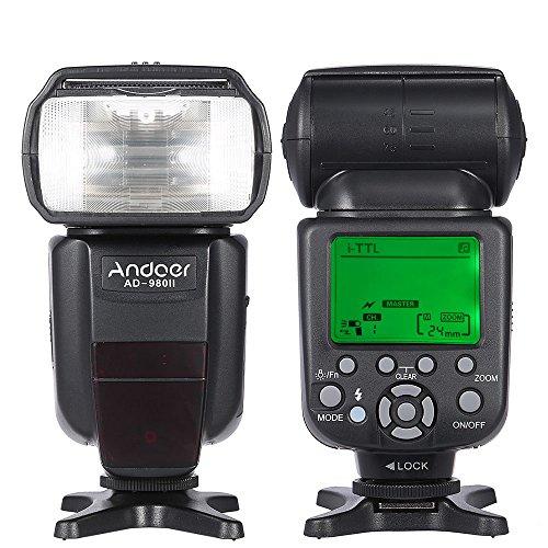 HAMISS Andoer AD-980II i-TTL HSS 1/8000s Master Slave GN58 Flash Speedlite for Nikon D7200 D7100 D7000 D5200 D5100 etc DSLR Camera