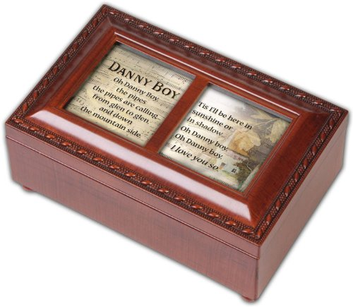 Cottage Garden Danny Boy Woodgrain Petite Music Box / Jewelry Box Plays Irish Eyes (Music Wood Grain Petite Box)