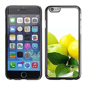 PC/Aluminum Funda Carcasa protectora para Apple Iphone 6 Plus 5.5 Fruit Macro Apples & Lemons / JUSTGO PHONE PROTECTOR