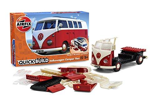 Glue Together Model Kit (Airfix J6017 QUICK BUILD VW Camper Van Snap Together Model Kit)
