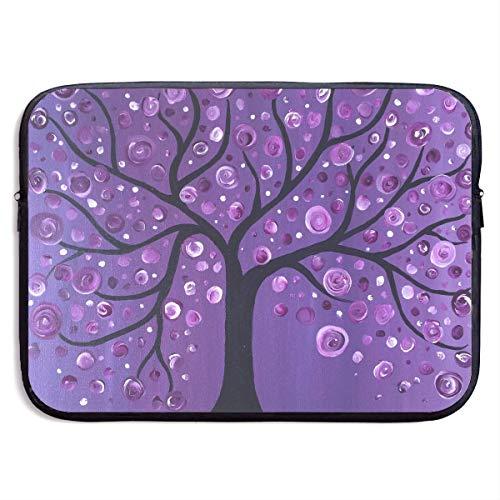 CHJOO Laptop Sleeve Bag Purple Tree Love Art 13/15 Inch Brie