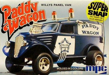 Paddy Wagon Willys Police Panel Van 1-25 Snap Kit MPC Boxart Ltd Production
