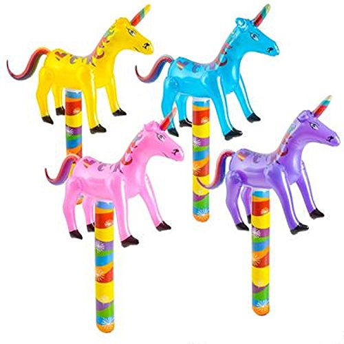 Unicorn Rainbow Inflatables Party Decoration - 4 Pieces
