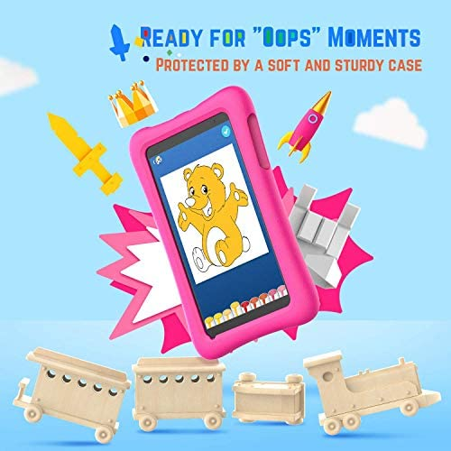 "VANKYO MatrixPad S8 8 inch Kids Tablet, 2GB RAM, 32GB ROM, Kidoz Pre Installed, 8"" IPS HD Display, Android OS, WiFi Tablet, Kid-Proof, Dual Camera, GPS, FM, Pink"