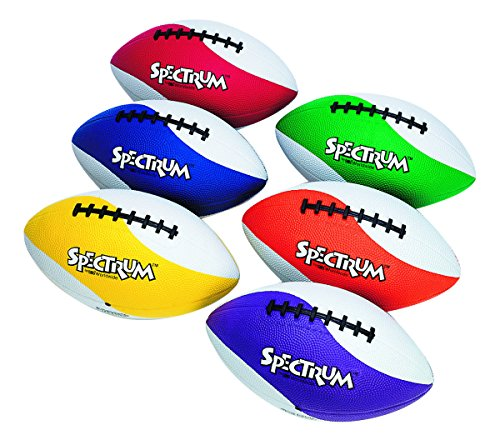 S&S Worldwide Spectrum Rubber Football - Intermediate Size-BLUE (Football Rubber Spectrum)