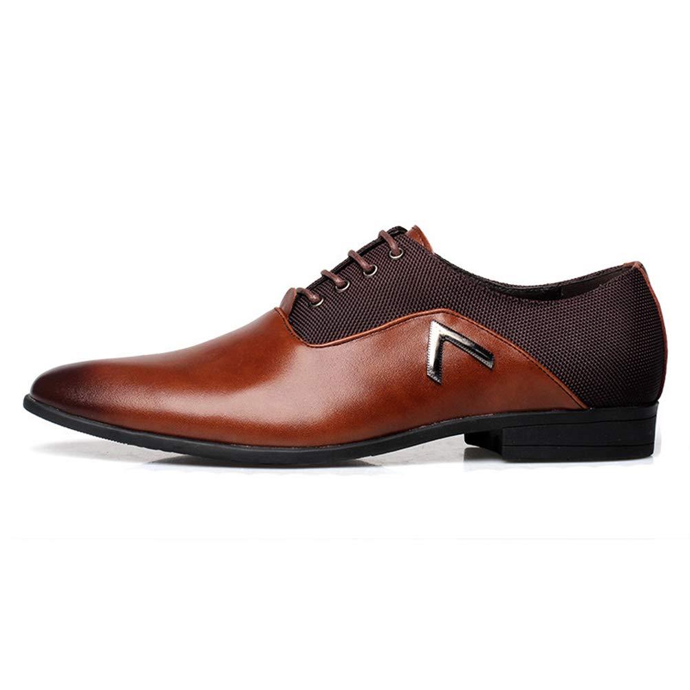 Qianliuk Herren Business Schuhe Spitz Schuhe Grundlegende Freizeitschuhe Leder Herren Elegantes Design H/übsche Schuhe