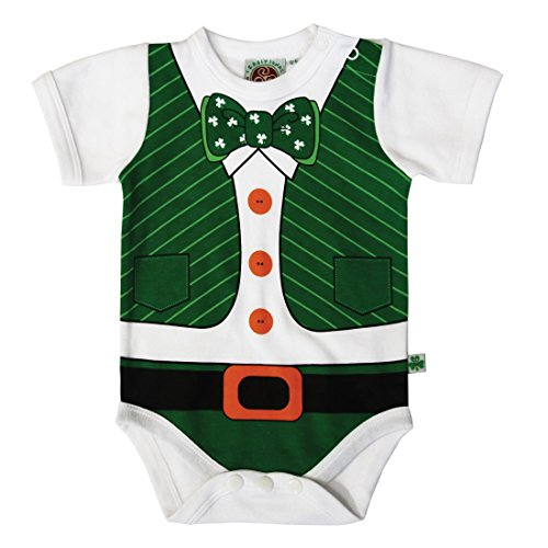 Traditional Craft Ltd. Full Leprechaun Print Babies Vest