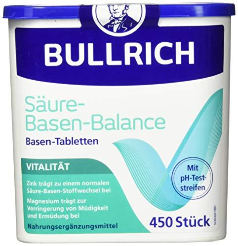 Bullrich Säure-Basen-Balance Basentabletten, Inkl. 12 pH-Teststreifen (450 Tabletten)
