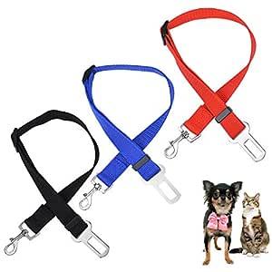 Rhww 3 Paquetes CinturóN De Seguridad De Coche para Perros ...