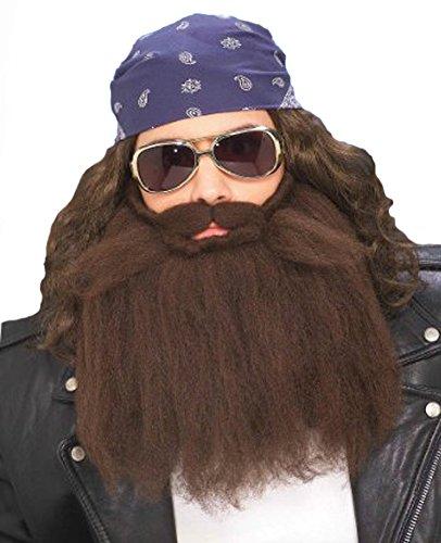 Brown Biker Beard & Mustache (Forum Novelties Men's Biker Beard And Mustache Set Brown 14