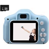 Najiny Mini Cámara de Fotos Digital para Niños Juguete Educativo,Selfie 12MP Cámara 1080P HD Video Cámaras Zoom Digital 4X con USB Recargable+8GB Tarjeta de Memoria(Azul)