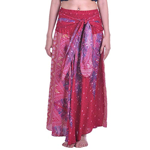 1 Dress Gypsy Donna Lofbaz Borgogna Gonna lunga hippie Boho bohemian Peacock Oro E lunga HAqUqwxv8