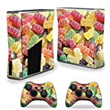 MightySkins Skin For X-Box 360 Xbox 360 S console - Sour Candy | Protective, Durable, and Unique Vinyl Decal wrap cover | Easy To Apply, Remove, and Change Styles | Made in the USA