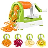 : Spiralizer Vegetable Slicer, CaCaCook 4 Blades Zoodle Maker,Veggie Spiralizers Zuchinni Spiral Noodle Spaghetti Maker, free download recipes ebook ,with peeler and cleaning brush
