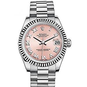 Best Epic Trends 51dB4ostXYL._SS300_ Rolex Datejust 31mm Pink Roman Dial White Gold Ladies Watch 178274