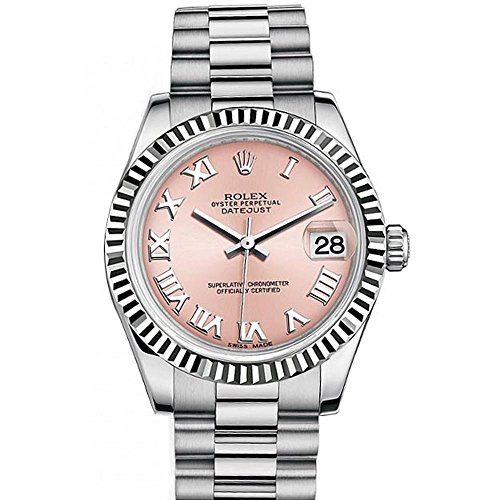 Rolex Datejust 31mm Pink Roman Dial White Gold Ladies Watch 178274