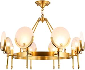 Copper Chandelier Creative Bedroom Living Room Lamp Home Atmosphere Villa Hall Light Luxury Modern Adjustable Height European Style - 8 Light