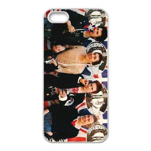The Sex Pistols 003 coque iPhone 4 4S cellulaire cas coque de téléphone cas blanche couverture de téléphone portable EOKXLLNCD20253