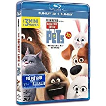 The Secret Life of Pets (2D + 3D) (Region A Blu-Ray) (English Language, Cantonese Dubbed 粵語配音. Hong Kong Version) PET PET 當家