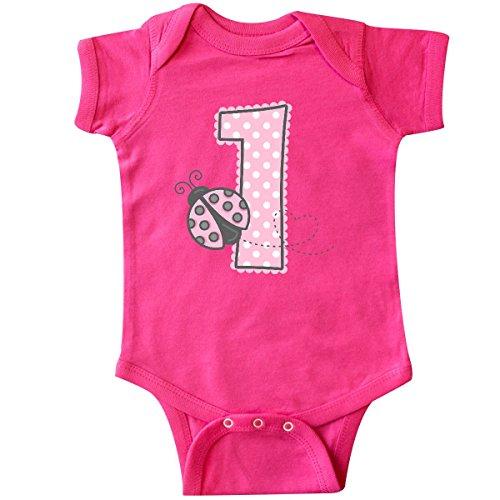 - inktastic - Pink Ladybug 1st Birthday Infant Creeper 12 Months Hot Pink 1d278