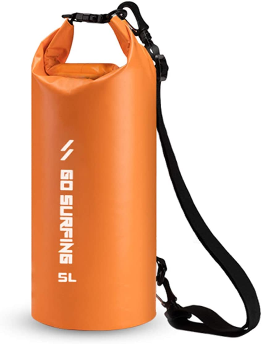 Waterproof Dry Bag Sack Floating 5L for Protecting Food and Gear at The Beach or While Kayaking, Hiking, Camping, Boating