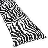Sweet Jojo Designs Zebra Animal Print Full Length Double Zippered Body Pillow Cover