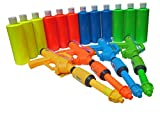 BIRTHDAY PARTY PAINT SQUIRT GUNS & PAINT 4 GUNS & 12 NEON Paint Party 16oz Bottles ASST #BOYG