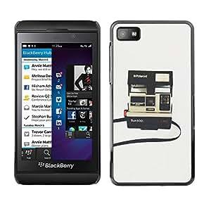 TopCaseStore / la caja del caucho duro de la cubierta de protección de la piel - Photography Retro - Blackberry Z10