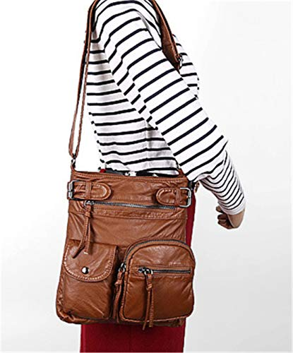 Hotstyle Bag Cerniera Fashion Smnyi Leather Donna Marrone2 Tracolla Borsa A Borse Mini Messenger Con Urbanistic Handbag Kawaii Pu Shoulder Unicolor SFpqdwd