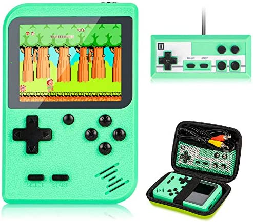 Retro Handheld Game Console with Protector Case, 400 Free Classical FC Games Support for Connecting TV & Two Players
