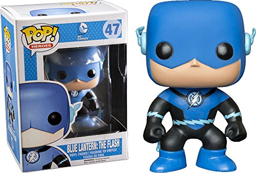Funko - Figurine DC Comics - Blue Lantern Flash Exclu Pop 10cm - 0849803037