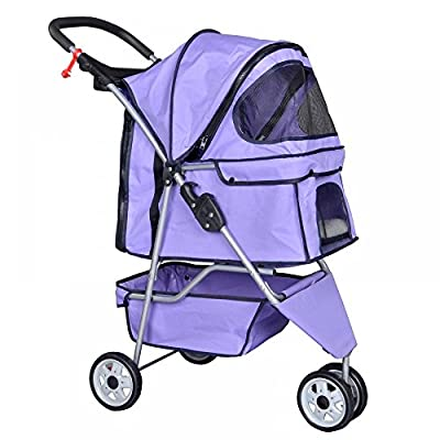 New Pet Stroller Cat Dog Cage 3 Wheels Stroller Travel Folding Carrier T13 from Bestpet