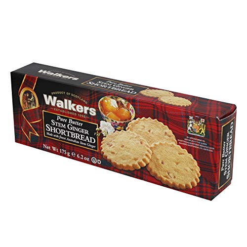 Walkers Shortbread Stem Ginger Biscuits 5.3-Ounce Boxes (Count of 6)