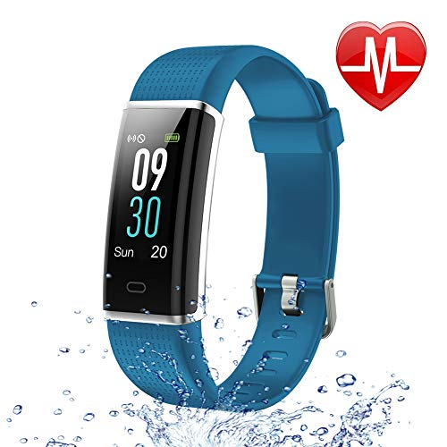 Letsfit Fitness Tracker Color Screen HR, Activity Tracker with Heart Rate Monitor Watch, IP68 Waterproof Step Counter Calorie Counter Sleep Monitor, Pedometer Smart Sport Watch for Kids Women Men (Best Monitor For Text)