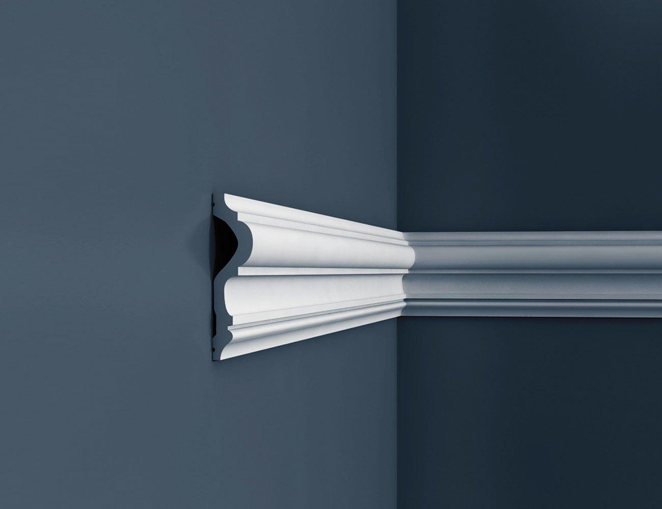 Cimaise Corniche Moulure Dé coration de stuc Orac Decor P8050 LUXXUS Profil dé coratif du mur | 2 m