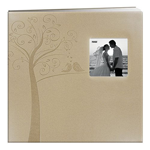 MB-10EW Postbound Embossed Leatherette Frame Cover Wedding Memory Book, 12-Inch by 12-Inch, Tree ()