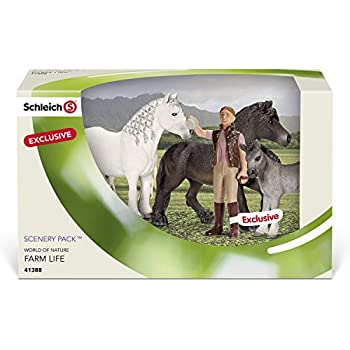 Amazon.com: Schleich Fell Pony Family Scenery Pack