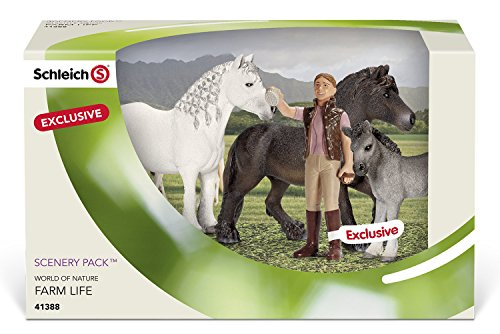 (Schleich Fell Pony Family Scenery Pack)