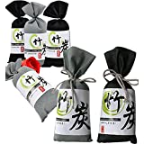 Air Purifying Bags,Warmword Natural Charcoal Odor Absorber for Cars,Shoes,Closet,Toilet,Kitchen,Bathroom (6 Pack)