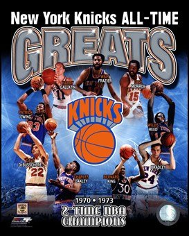 New York Knicks - All-Time Greats Composite Art Poster Print Unknown
