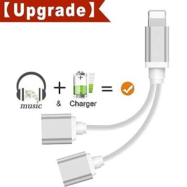 pilloit - Cargador Adaptador de Auriculares para teléfono X ...