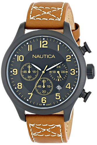 Nautica N16599G Classic Stainless Leather