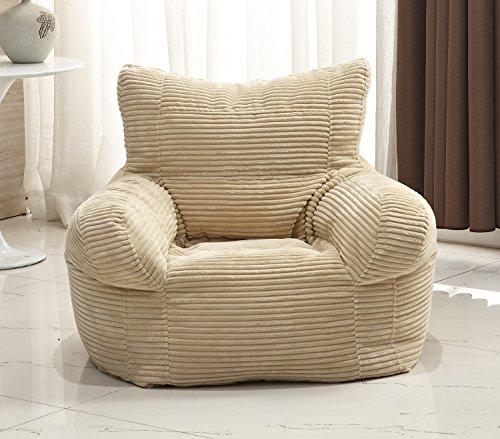 Milton Greens Stars Small Corduroy Arm Chair Bean Bag, ()