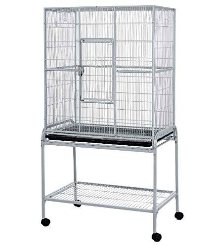 Enorme jaula de metal para mascotas, con soporte en ruedas, fácil ...