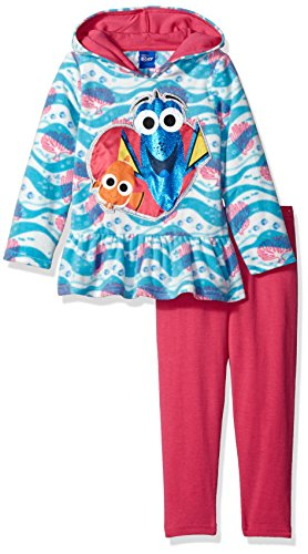 Disney Girls 2 Piece Finding Dory Hoodie and Legging Set