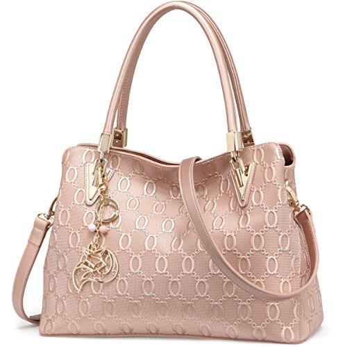 FOXER Women Leather Handbag Purse Tote Shoulder Bag Top Handle Satchel Bags