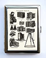 Retro Camera Illustration Cigarette Case Wallet Business Card Holder