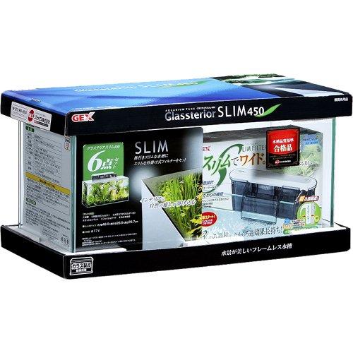 ジェックス グラステリアスリム フレームレス水槽 6点セット 幅45cm×奥行20cm×高さ22cm