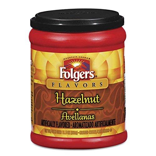 Folgers Hazelnut Coffee, 11.5 Ounce (Pack of 2)
